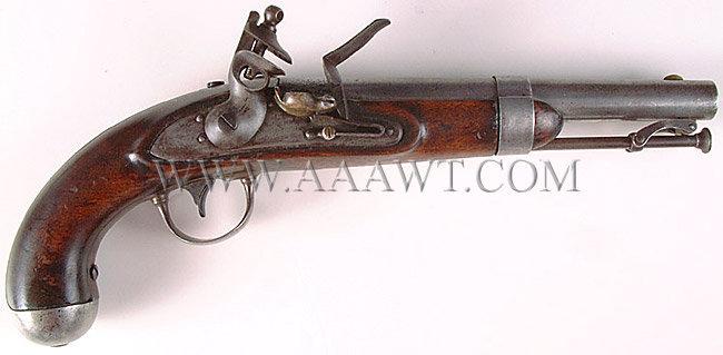 Johnson US Model 1836 Pistol, Original Flintlock