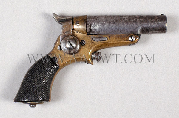 Starr .41 Caliber Derringer With Checkered Wood Grips