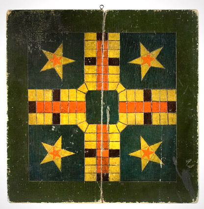 Double Sided Gameboard Parcheesi/Checkers