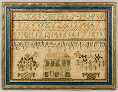 Needlework, Sampler, Anna Elizabeth Hoke        Pennsylvania, entire view