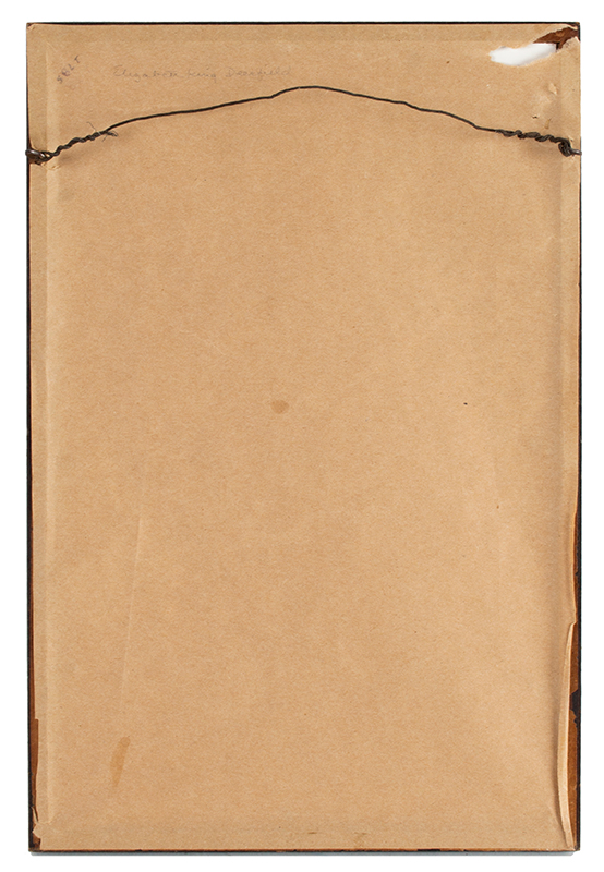 Antique Needlework Marking Sampler, Elizabeth King, Deerfield, 1837 Silk on linen, back view