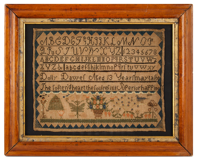 Dolly Dawes, Windsor, Berkshire County MA. Sampler