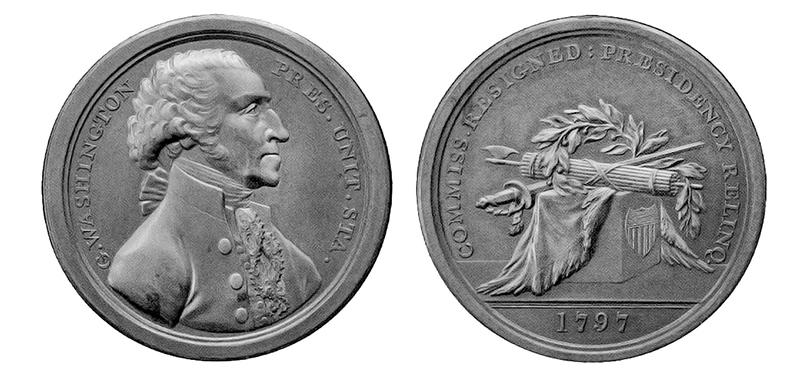 Sansom Medal, Circa 1805, Rare, 40.64mm, Rare Original Strike GW-58, entire view