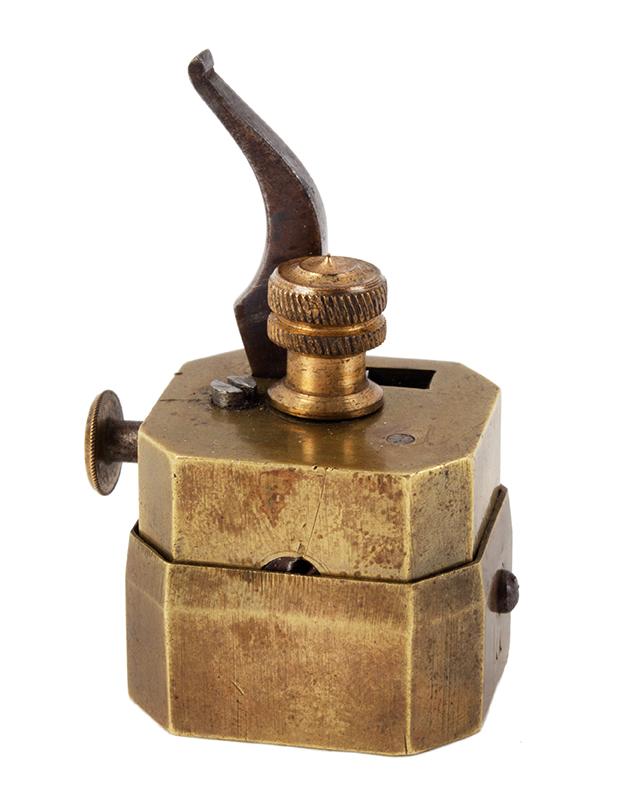 Scarificator, Brass & Steel, Octagon, 4 Blade Unknown Maker, 19th Century, entire view