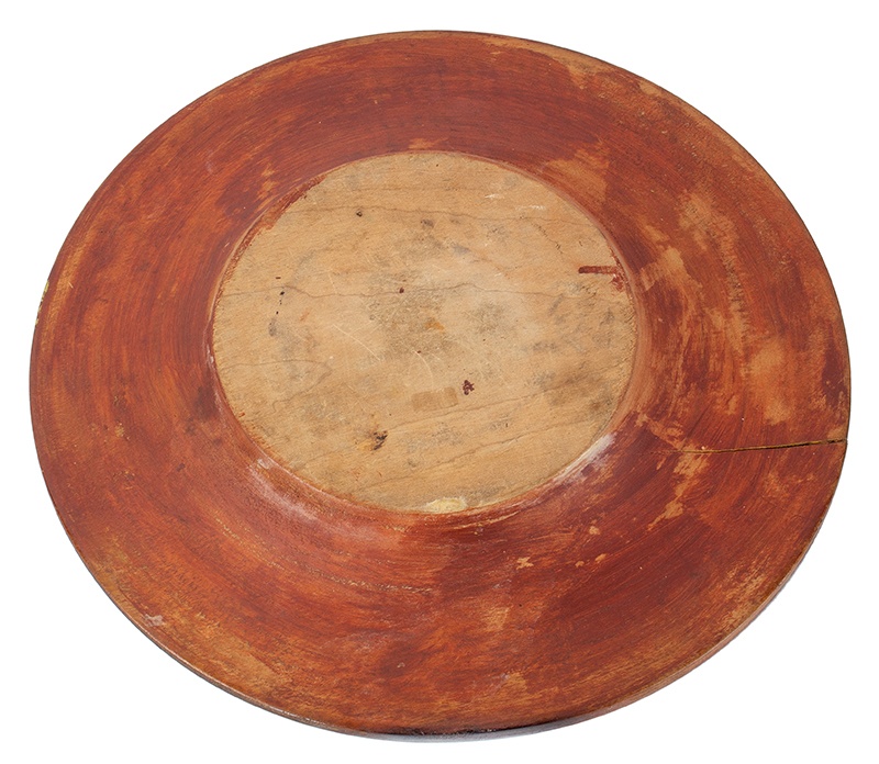 Antique, Treen Tazza, Dished Top Maple, Circa 1780-1850, bottom view
