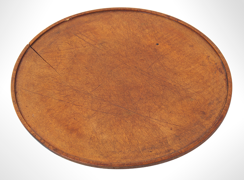 Antique, Treen Tazza, Dished Top Maple, Circa 1780-1850, top view