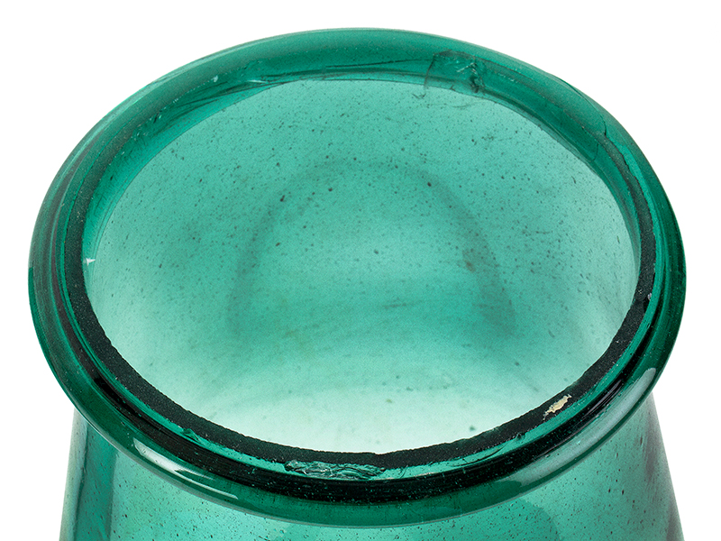 Hurricane Shades for Candlesticks, Early Green Bottle Glass, RARE Possibly Marbletown, New York, Circa 1750-1830, bottom 2