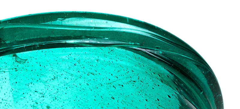 Hurricane Shades for Candlesticks, Early Green Bottle Glass, RARE Possibly Marbletown, New York, Circa 1750-1830, detail view 2