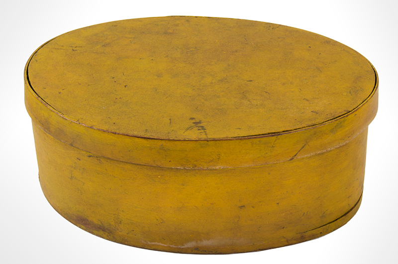 Shaker Oval Box, Mid-19th-Century, Chrome Yellow Maple and pine, entire view 3