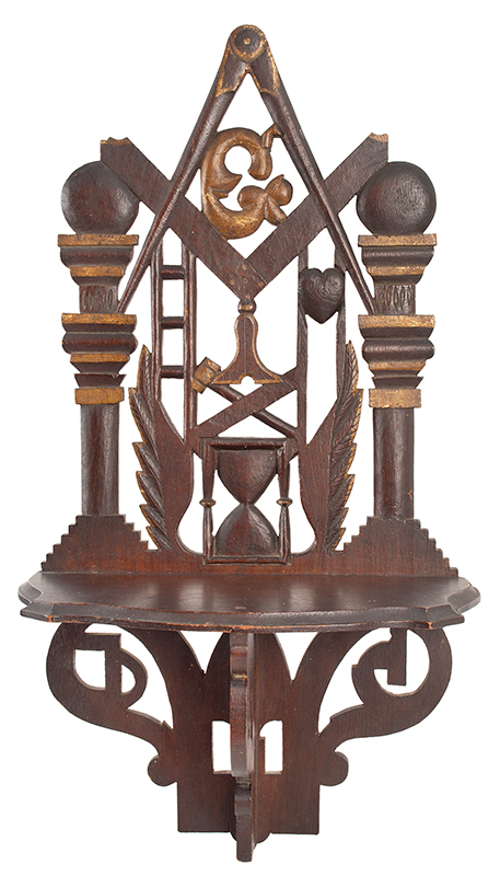 Masonic Shelf Bracket, What-Not Shelf