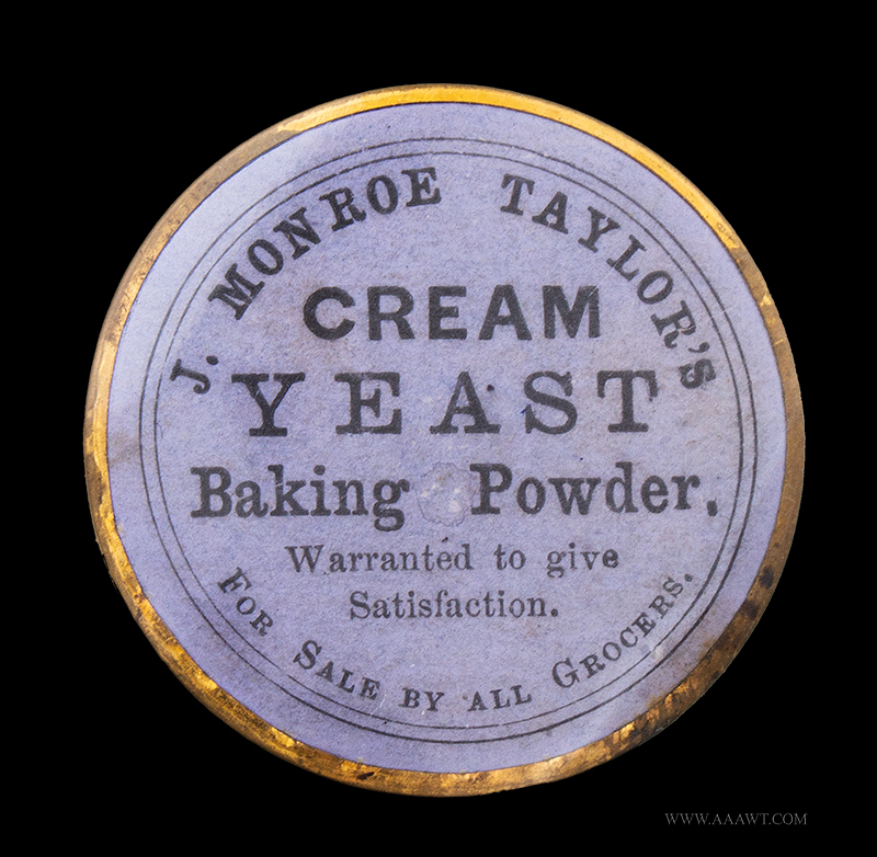 Rare 1870 Advertising Shell Card for J. Monroe Taylor's Cream Yeast Baking Powder, N.Y side 2