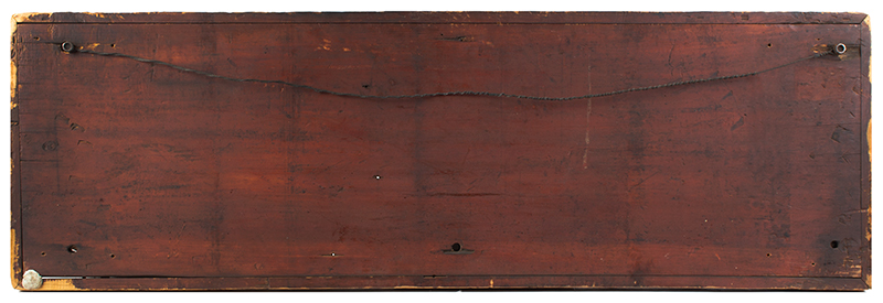 19th Century Road Sign, Western Massachusetts, Preferential Weathering   Pine, applied molding, original condition, BEST patina (48.75'' x 16.25'' x 1.5'') Arrows point to Wendell, Locks Pond [Village was part of Shutesbury], Petersham, Athol & Orange (Massachusetts), back view
