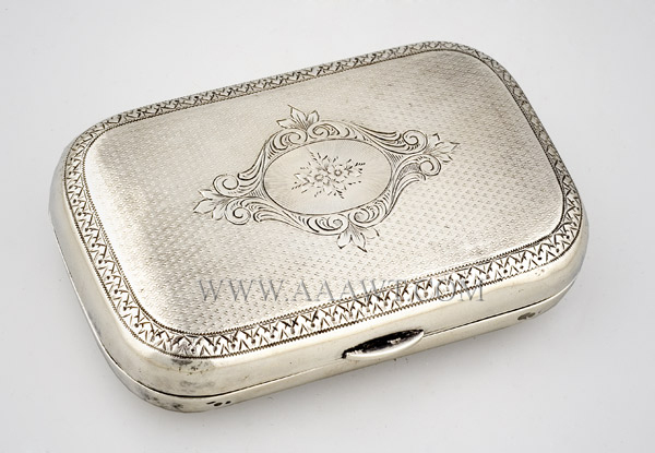 Coin Silver Snuff Box,
