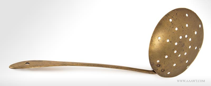 Skimmer, Brass, Signed, R. Lee <br>(Richard Lee Sr./Jr. (1775-1858), Springfield, VT, 1795-1815