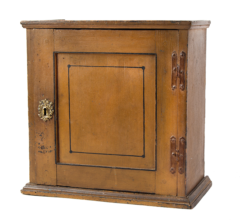 Early 18th Century Spice Cupboard or Valuables Cabinet, Painted England, circa 1700-1730 Pine, entire view 2