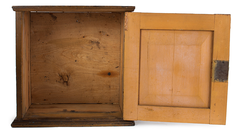 Early 18th Century Spice Cupboard or Valuables Cabinet, Painted England, circa 1700-1730 Pine, entire view 5