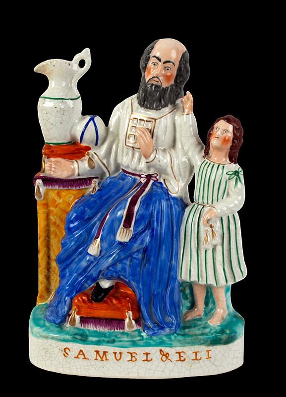 Staffordshire Pottery, Figural Group, Samuel & Eli England, Circa 1860, entire view