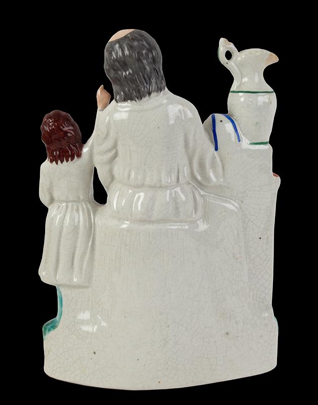 Staffordshire Pottery, Figural Group, Samuel & Eli England, Circa 1860, back view