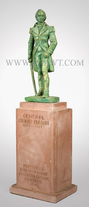 General Gasimir Polaski (1746 to 1779) Plaster Statue