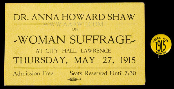 Woman's Suffrage, Dr. Anna Howard Shaw, entire view