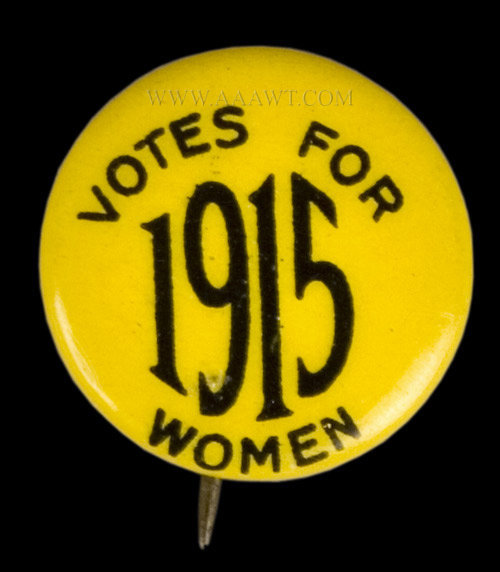 Woman's Suffrage, Dr. Anna Howard Shaw, pin detail