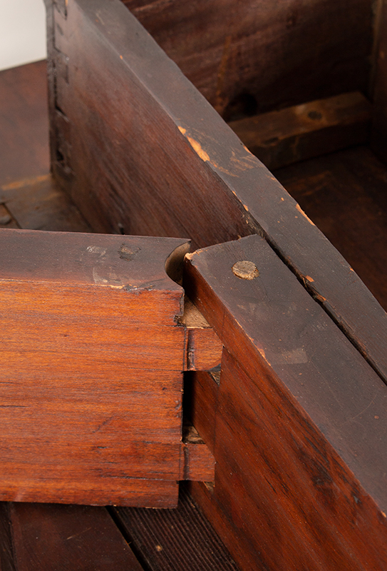 Period Queen Anne Drop Leaf Table, Boston - Essex County, Circa 1770 A scarce small size mahogany table, detail view 1