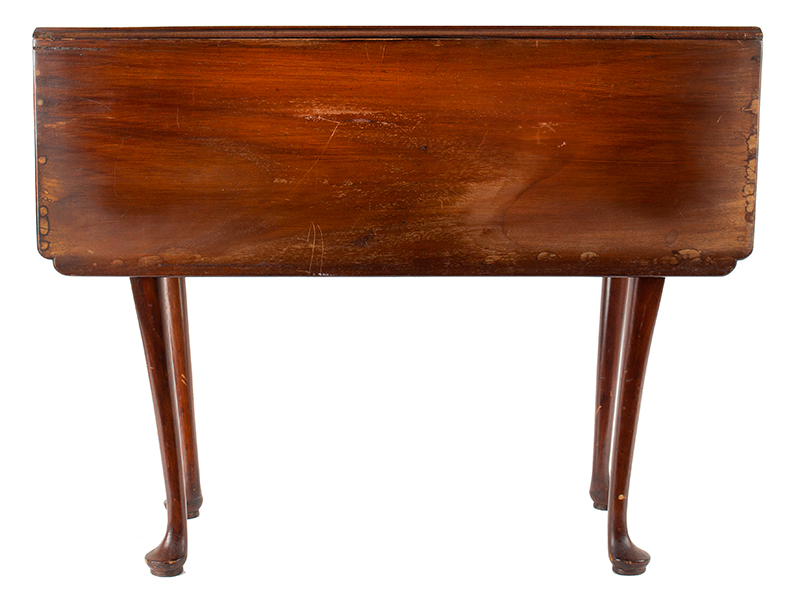Period Queen Anne Drop Leaf Table, Boston - Essex County, Circa 1770 A scarce small size mahogany table, entire view 1