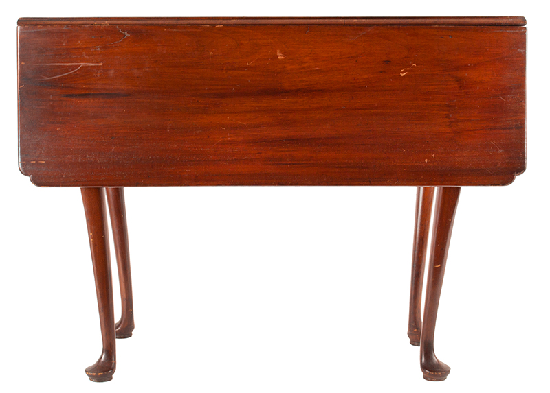 Period Queen Anne Drop Leaf Table, Boston - Essex County, Circa 1770 A scarce small size mahogany table, entire view 2