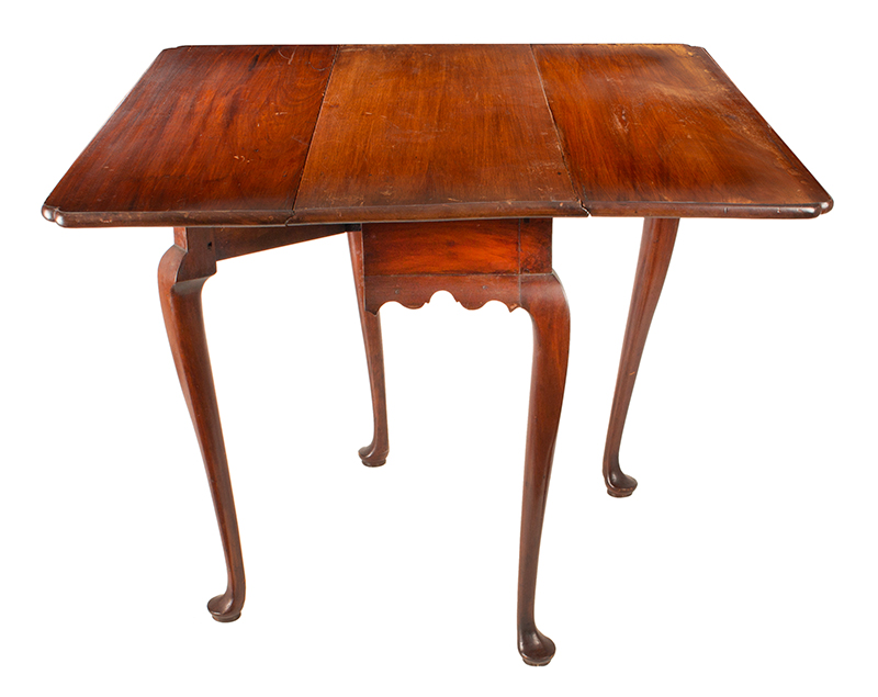 Period Queen Anne Drop Leaf Table, Boston - Essex County, Circa 1770 A scarce small size mahogany table, entire view 4