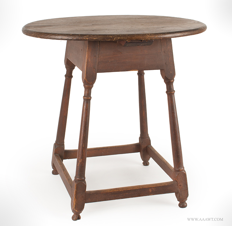 Oval Top Tavern Table New England, Circa 1730,  view 2