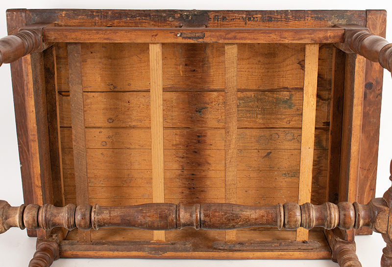 William and Mary Work Table,-Tavern,-Two-Drawer,-c1700-1720_underside