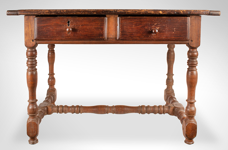 William and Mary Work Table,-Tavern,-Two-Drawer,-c1700-1720_view-1