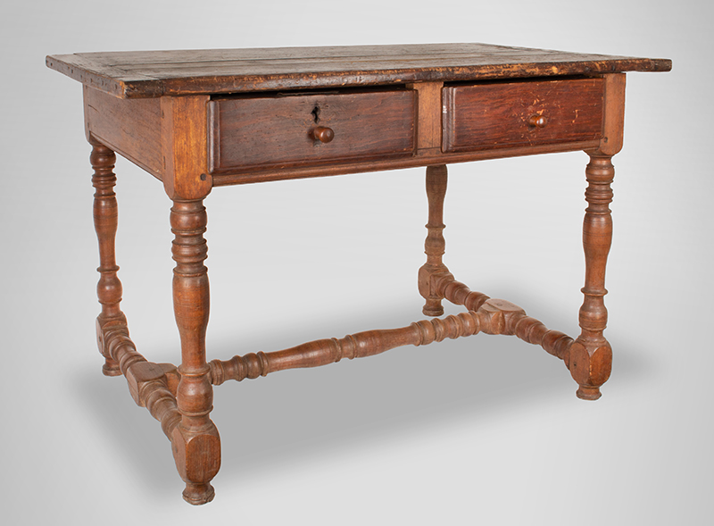 William and Mary Work Table,-Tavern,-Two-Drawer,-c1700-1720_view-2