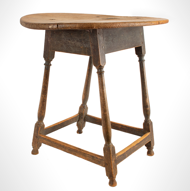 Tea-Table,-Oval,-Splayed-Stretcher-Base_view-3