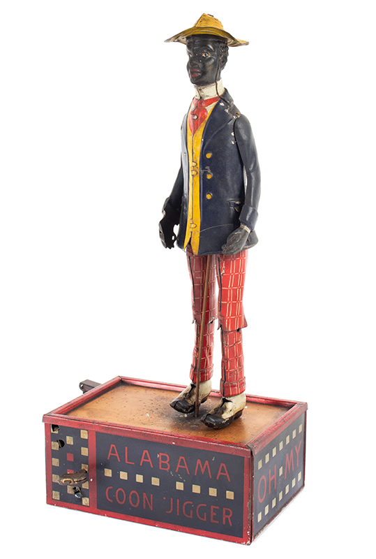Wind Up Toy, Alabama Coon Jigger, Lehmann, Lithographed Tin, Working Germany, Circa 1910-1912 (latest patent date on base: 1912), entire view 1