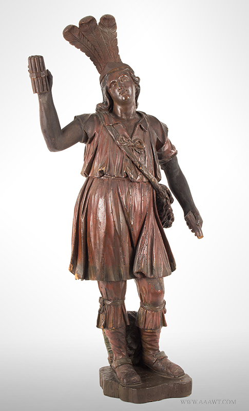 Cigar Store, Tobacconist Figure, Classical Pose, Carved and Painted