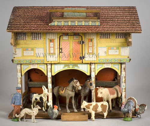 Toy-Barn-with-Animals, entire view
