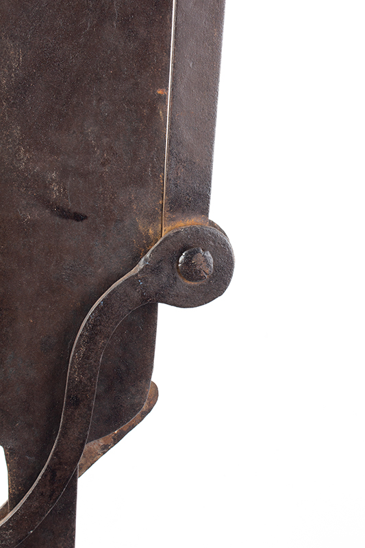 A Fine Large Antique Wrought & Incised Iron Trammel Likely Germany, 18th Century, detail view 8