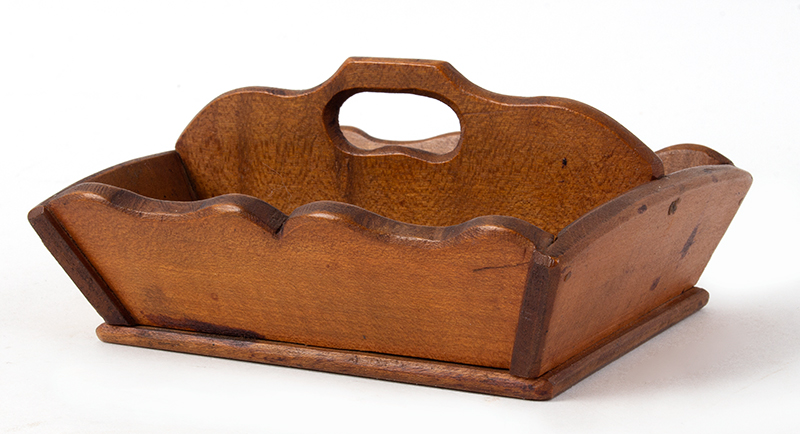 Vintage, Miniature Cutlery Tray New England, Circa 1900 Maple, entire view
