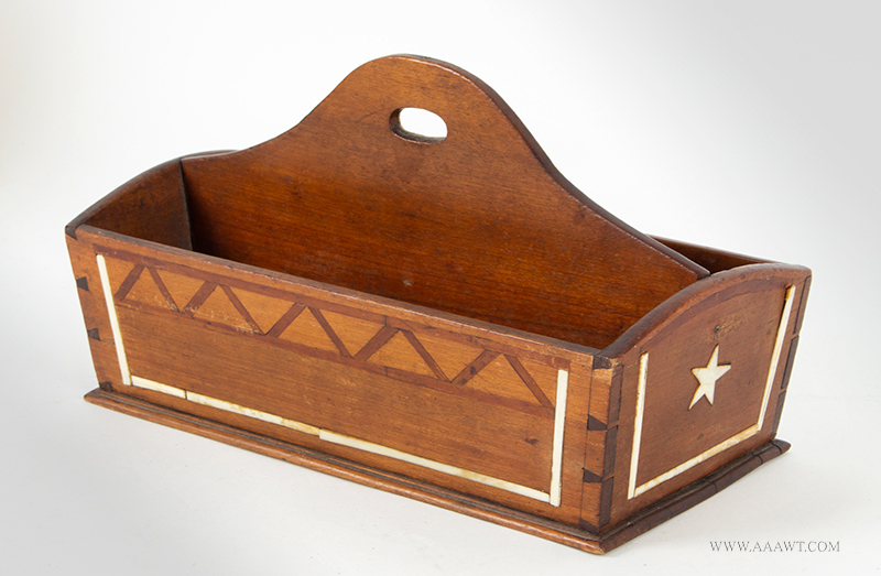 Cutlery Tray, Nautical, Six Star Inlays  Anonymous, 19th Century