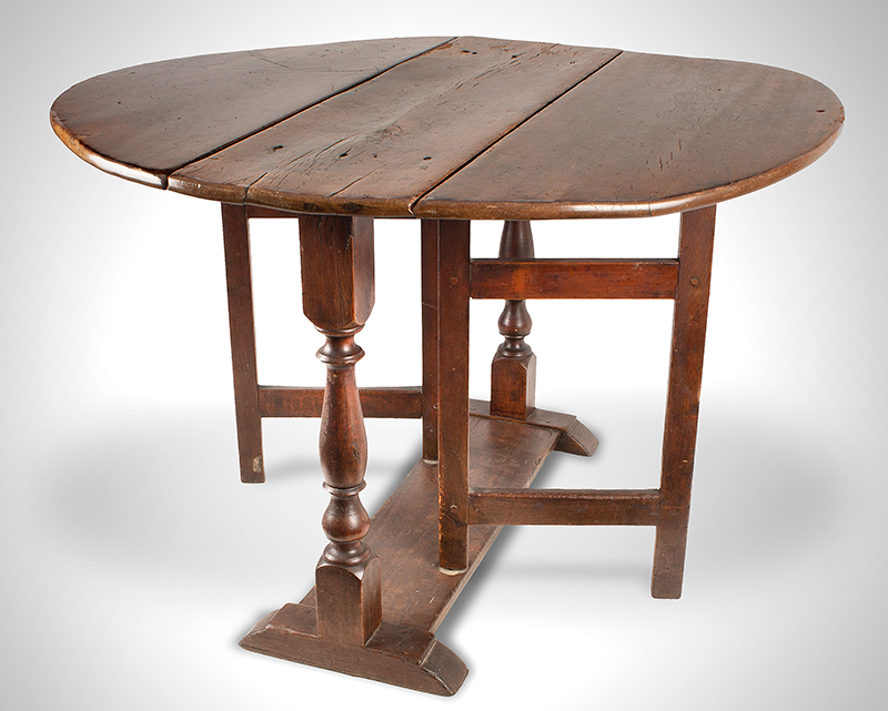 Antique William and MaryTrestle-table,-NY_view-4