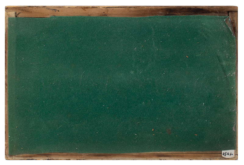 Antique Paint Decorated Dome Top Document Box, Fine and Unusual  New England, likely Maine, circa 1820-1830, bottom view