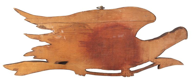 Vintage Carved Eagle Wall Plaque after John Haley Bellamy Unknown Carver, back view
