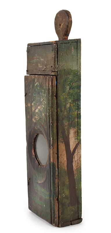 Antique Watch Hutch, Paint Decorated, New England, Circa 1780-1830ish Folk art and utility combined…, entire view 2