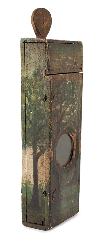 Antique Watch Hutch, Paint Decorated, New England, Circa 1780-1830ish Folk art and utility combined…, entire view 3