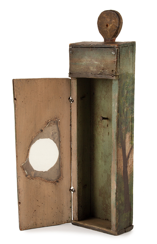 Antique Watch Hutch, Paint Decorated, New England, Circa 1780-1830ish Folk art and utility combined…, entire view 5