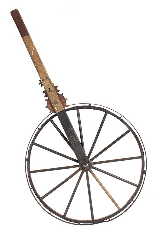 Waywiser, Surveyor's Wheel, Instrument for Measuring Distance Traversed Unknown Maker, 19th Century