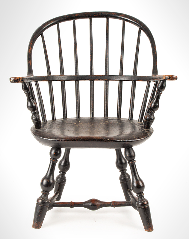 Antique Child's Windsor Sack-back Armchair, RARE New York City, circa 1790, entire view