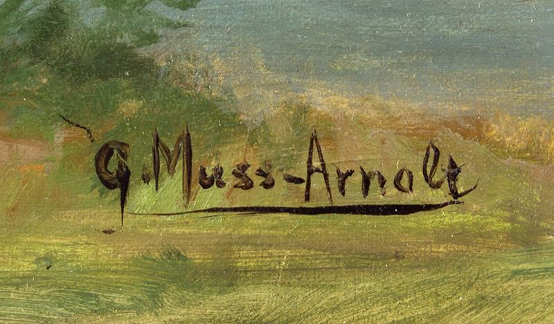 Gustav Muss-Armolt, Painting, Alert Wood Duck, Arm & Hammer Bird Trading Cards Illustration Oil on canvas, artist signature detail