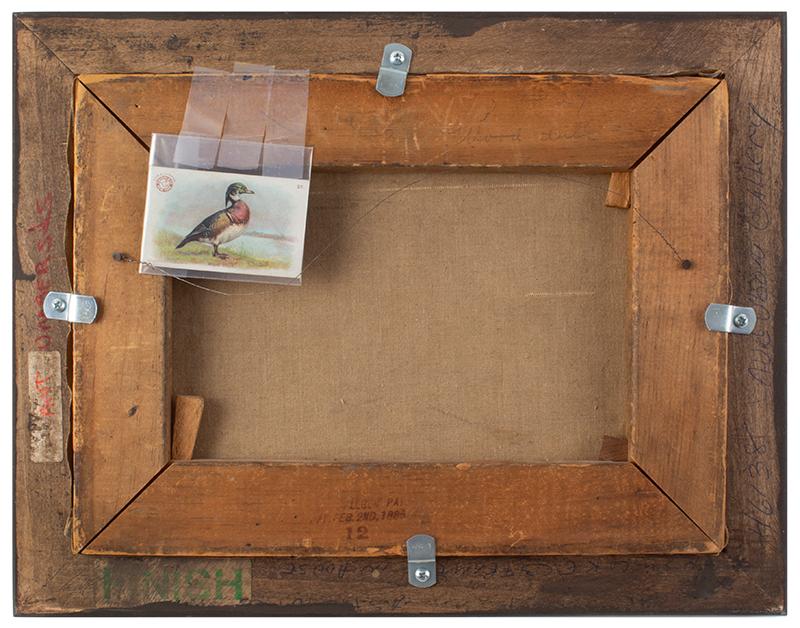 Gustav Muss-Armolt, Painting, Alert Wood Duck, Arm & Hammer Bird Trading Cards Illustration Oil on canvas, back view